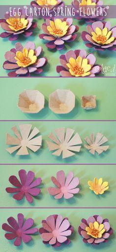 Egg Carton Spring Flowers