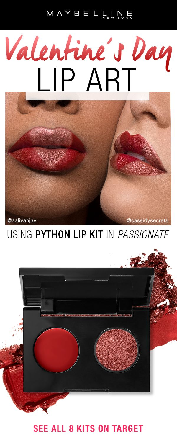 3537 Best Makeup Be Beautiful Images On Pinterest Beauty Brunbrun Paris Ultra Rich Lipstick Liquorice Get This Metallic Lip Art Look Using Our New Python Kit Customize The Heart By Color