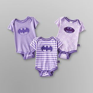 DC Comics Batman -Infant Girl's Bodysuit - 3-Pack @pup4life