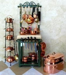 Miniature Wrought Iron Baker's Racks, Tables, Wine Racks, Pot Racks, Plate Racks