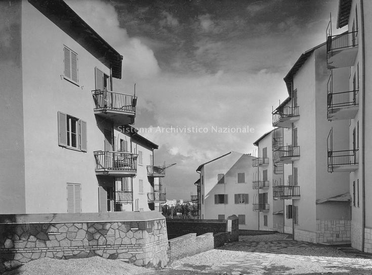 Quartiere Tiburtino, Roma, 1949, Quaroni, Ridolfi, Aymonino