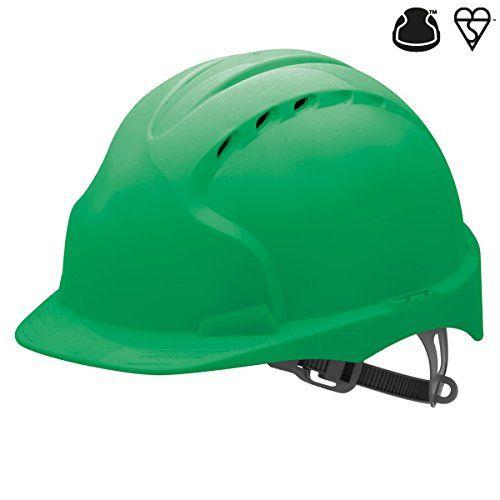 Cheap JSP AJF030-000-300 EVO2 Safety Helmet with Slip Ratchet Vented Green deals week