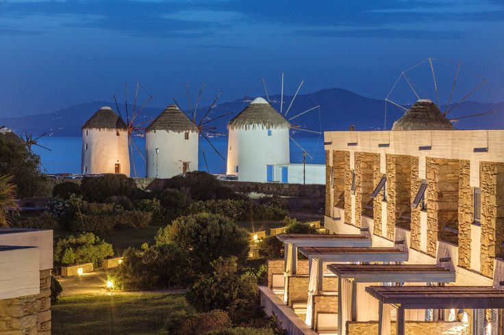 The windmills of Mykonos: view from Theoxenia Boutique Hotel