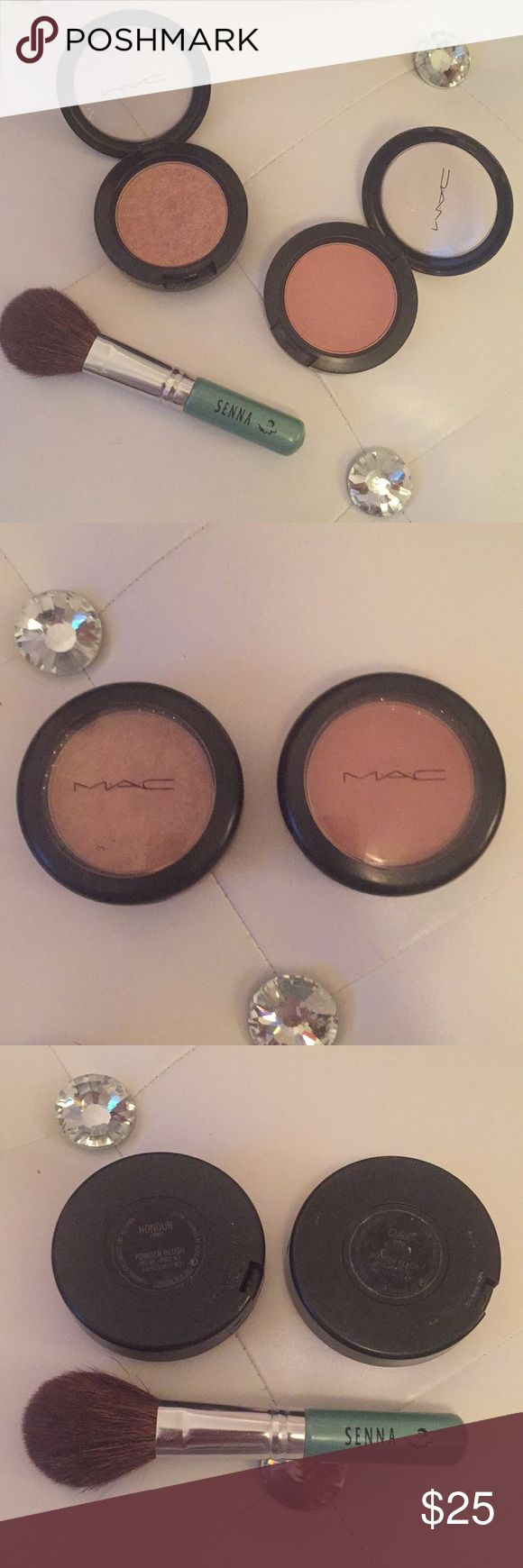MAC Bronzer & Blush Bundle + BONUS BRUSH FREE! Bundle includes one full size MAC blush in Cubic which is a dusty rose color and one full size MAC bronzer in Honour, both with lots of product left because they were only used a few times and completely sanitized. As a bonus this bundle includes a FREE Senna travel size blush or bronzer application brush ✨ In addition, I discount all bundles of two or more separate listings automatically by 20%. Offers welcome! MAC Cosmetics Makeup Blush