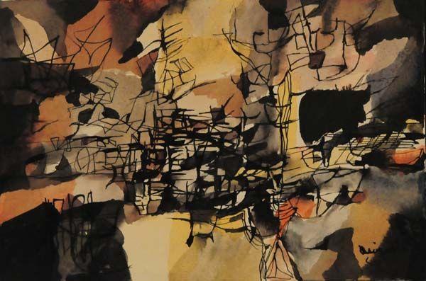 Jean-Paul RIOPELLE - Composition (1947)