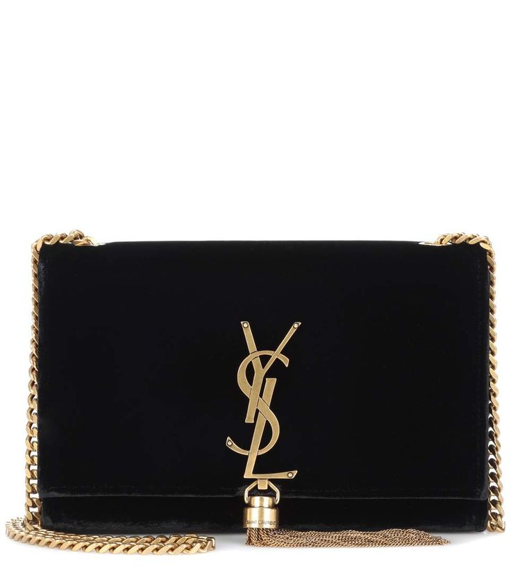 Kate Tassel black velvet shoulder bag 1450€