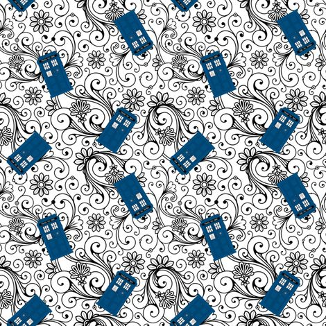 Tons of Doctor Who fabric!