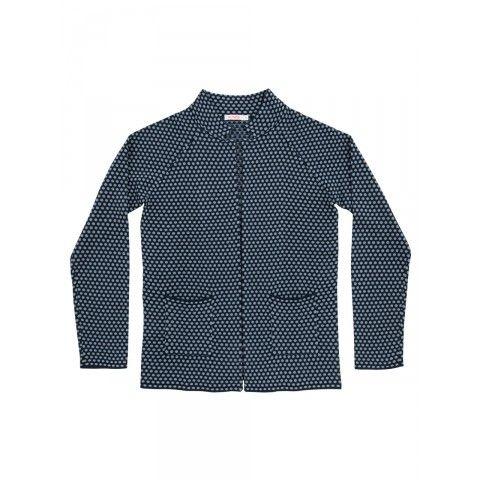 Navy blue jacket knitted SUN68 Woman SS15 #SUN68 #SS15 #woman #jacket