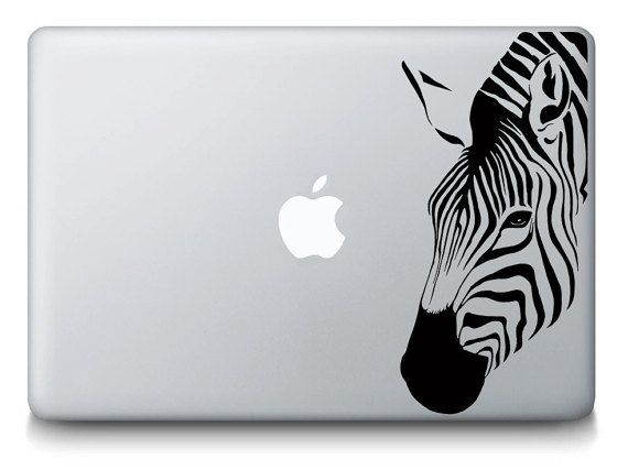 Zebra animale Wild Africa Drylands Safari leone tigre MacBook Mac Computer portatile iPad vinile adesivo decalcomania