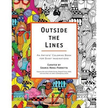 For anyone who loves creativity and contemporary art, or who simply loves the joy of colouring, comes Outside The Lines, a striking collection of illustrations from more than 100 creative masterminds, including animators, cartoonists, fine artists.