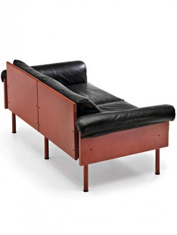 Finally figured out where our sofa came from - Finnish designer Yrjö Kukkapuro. A sofa design called the Ateljee from the 1960's. Now just to figure out how to restore the thing...
