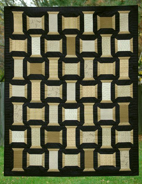 beautiful spool block quilt