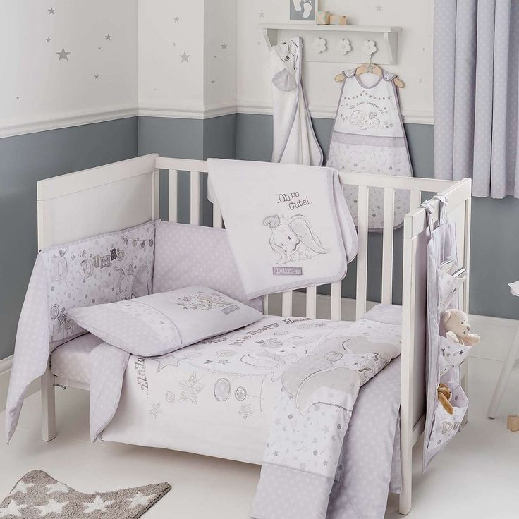 Disney Dumbo Nursery Cot Duvet Cover and Pillowcase Set | Dunelm