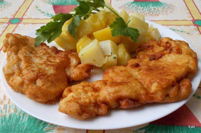 Mustáros csirkemell rántva