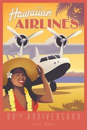 Hawaiian Airlines poster