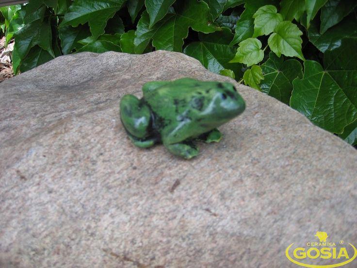 Żabka mała - figurka ceramiczna ogrodowa