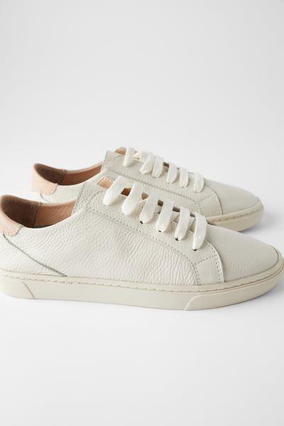 Sneakers, Leather sneakers, Zara sneakers
