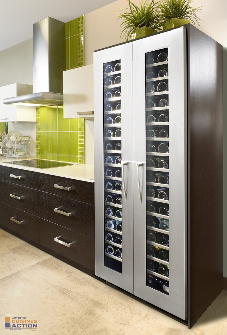 203 bottle #Majestika #WineCellar from #Cavavin.  For someone serious about #wine.  #Madeincanada #kitchenidea