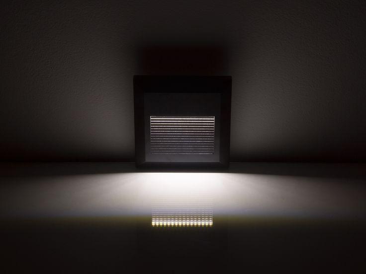 StepLight (négyzet alakú, fekete) lépcsővilágító - 2W (4000K)