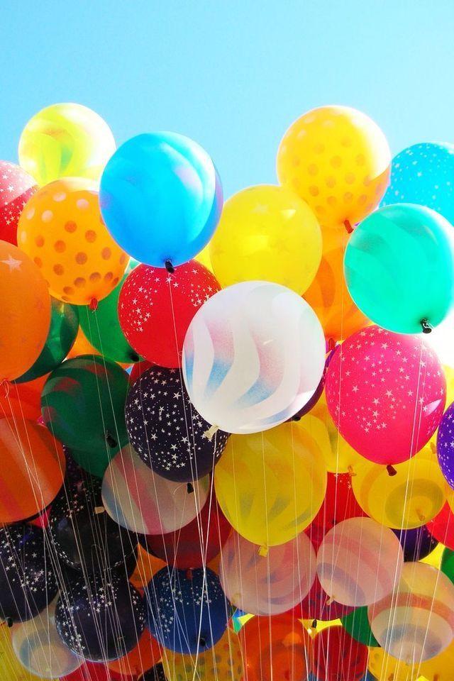 Открытка разноцветные шары