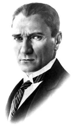 """""""Cumhuriyetçilik ve toplumsal inkılâp, lâiklik ve yenilikseverlik, Türk'ün öz malı ve özelliği haline geldiğini görmek, benim için büyük bir bahtiyarlık olacaktır.""""  Mustafa Kemal Atatürk"""