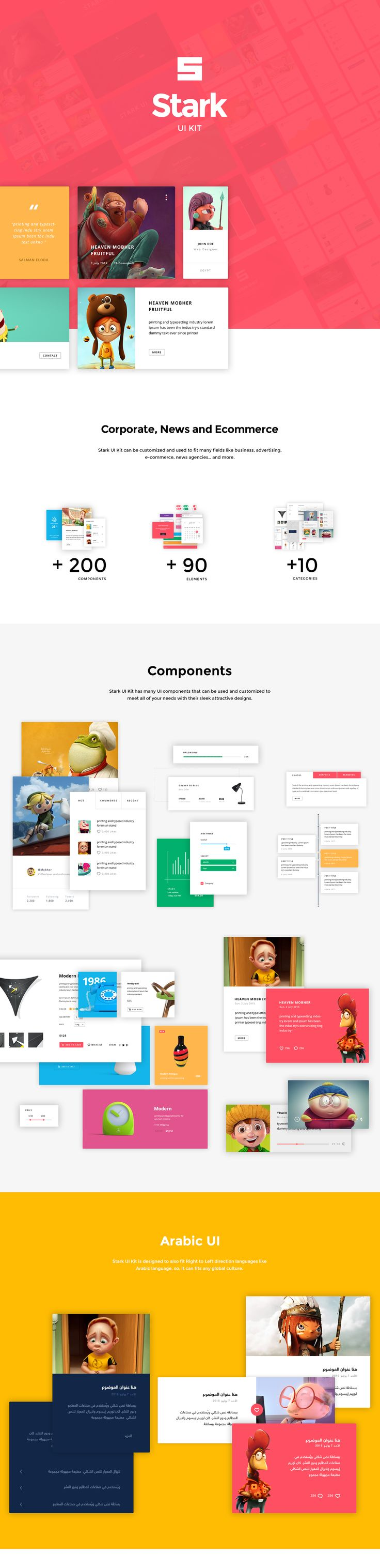 New Free PSD UI Kit (200+ Components, 90+ Elements)