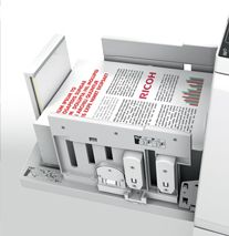 An innovative paper clamping system increases registration accuracy. This leads to top-quality multi-colour prints – even on special papers. Implement the optional PostScript module to produce near full-colour images using the colour separation function.