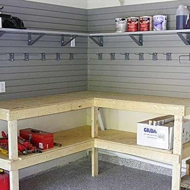 DIY Corner Workbench