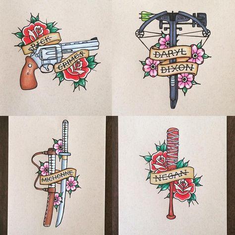 Überlegungen, wie man Morgans zur Sammlung hinzufügen kann. #thewalkingdead #thewalkingdeadamc #talkingdead #rickgrimes #michonne #daryldixon #coltpython #pistole #katana #sword #crossbow #traditionaltattoo #tattoo #rosen #traditionalrose #cherryblossoms #zurückziehen #chetchbladoms