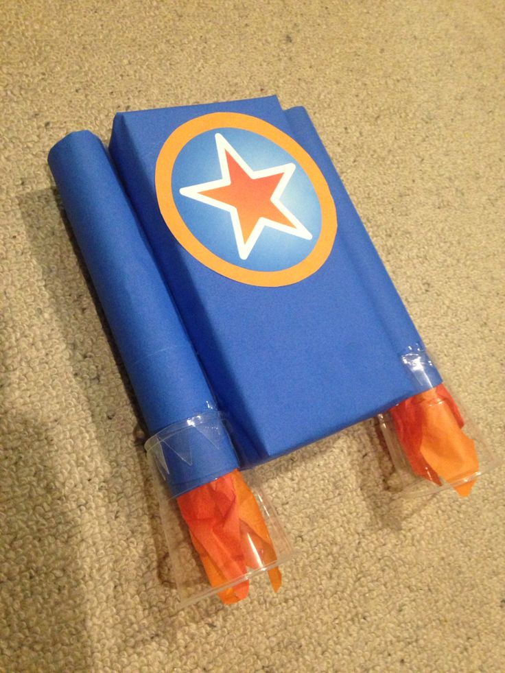 Go jetters party - make your own jet pack 'click on'