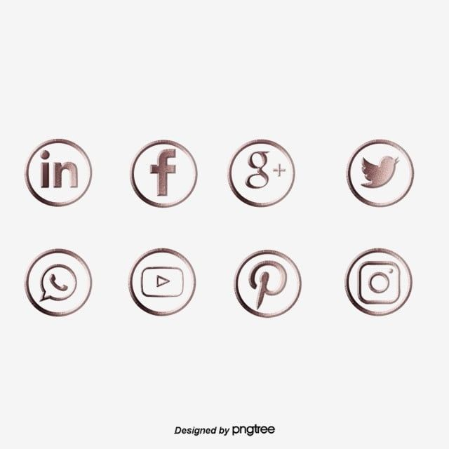 Rose Gold Stereo Social Media Icon App Facebook Icon Png Transparent Clipart Image And Psd File For Free Download In 2021 Social Media Icons Media Icon Facebook Icons