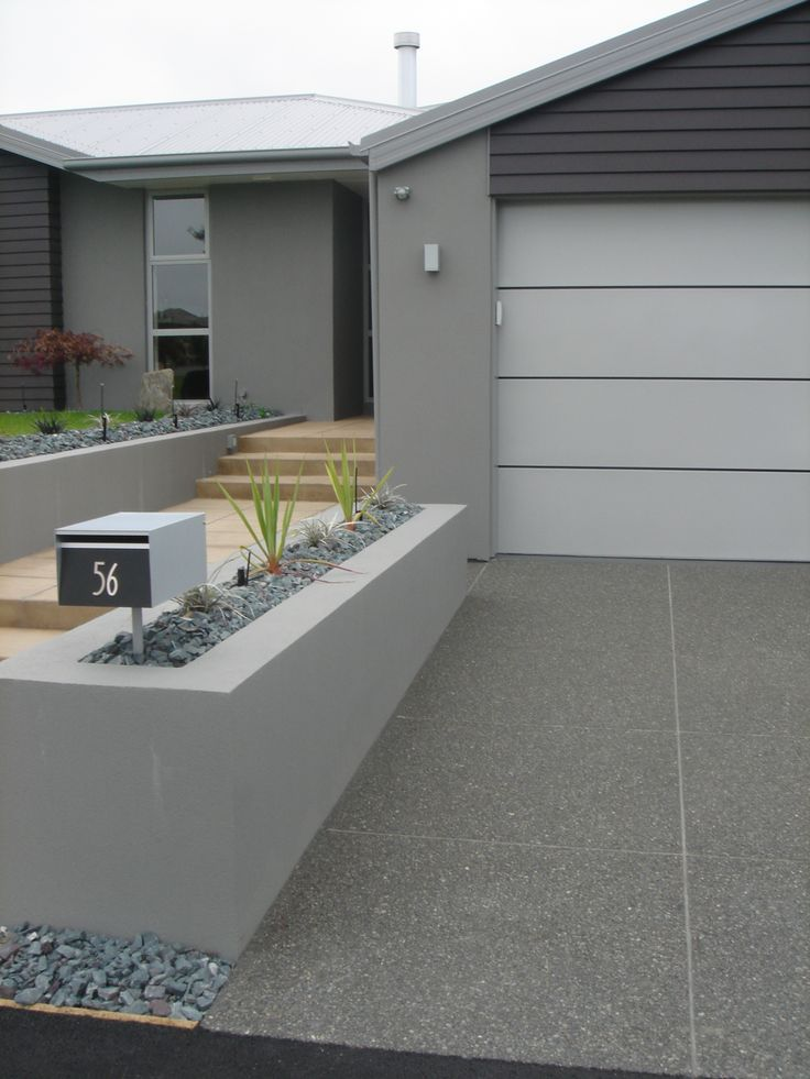 modern concrete driveway finishes - Google Search                                                                                                                                                                                 More