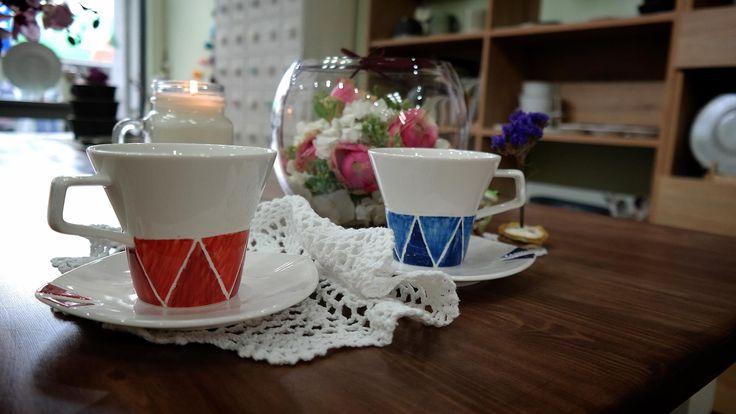 모던 커플 커피잔