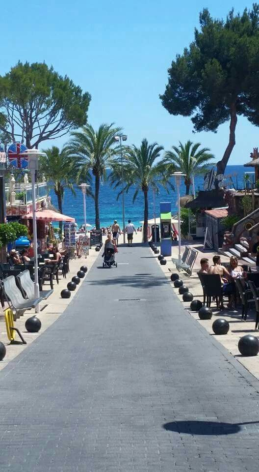 Magaluf strip. Everyone slags Magaluf off saying how gross it is, but I really did love it here