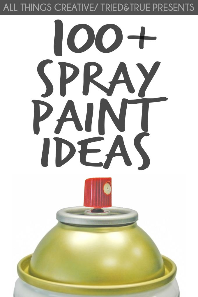 Tons of ideas on how to transform with spray paint!