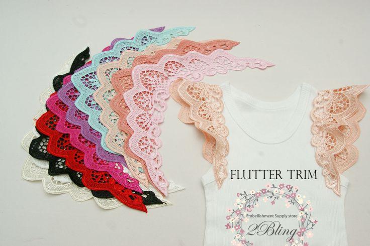 Flutter sleeves trim. Tutorial flutter sleeves. http://www.2bling.com.au/blog/Tutorial-Flutter-sleeves-on-Tshirt-singlet