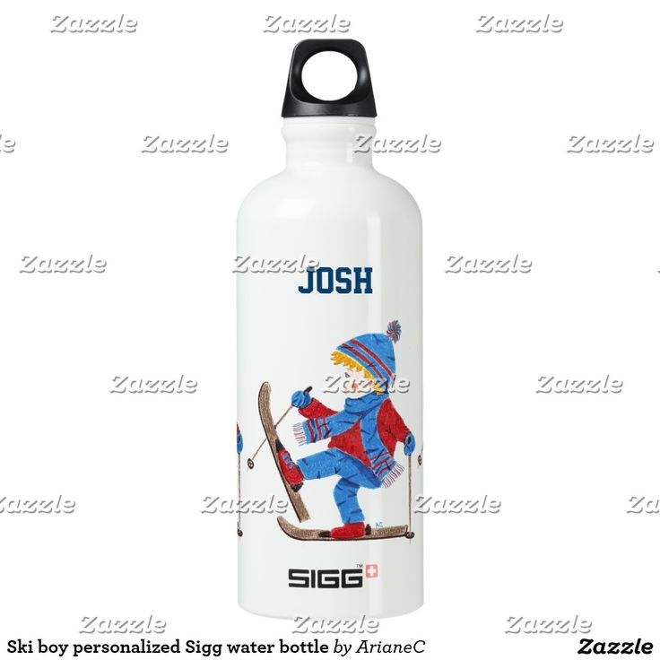 Ski boy #personalized Sigg water bottle . It is perfect tp stay hydrated while excercising :) Desinged by ArianeC .