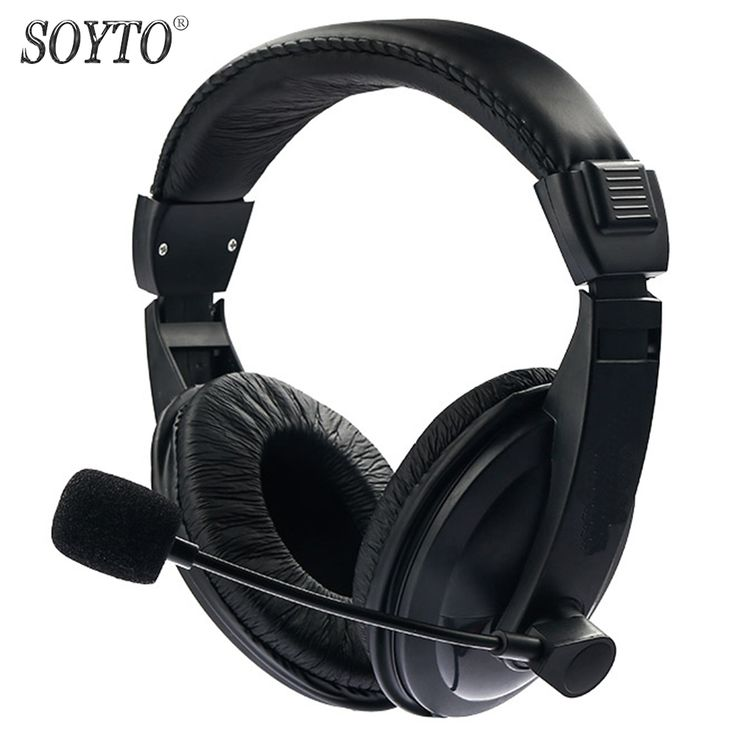 SOYTO Original Wired Stereo Bass Headset Gaming Headphones fone de ouvido Earphones auriculares With Mic for Mobile Phones PC
