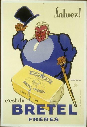 Saluez ! C'est du Bretel frères, beurre d'Isigny - 1933 - (Dransy) -