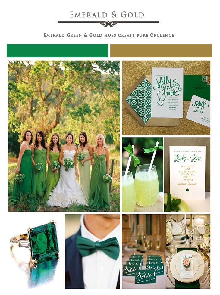 Greens And Gold Dream Wedding Pinterest Green
