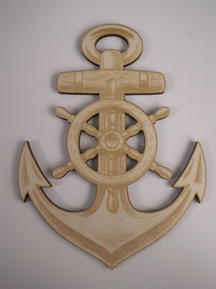Anchor Wood Shape, Laser Cut, Nautical Shapes, Nautical Wall Art, Ready to Paint #Unbranded