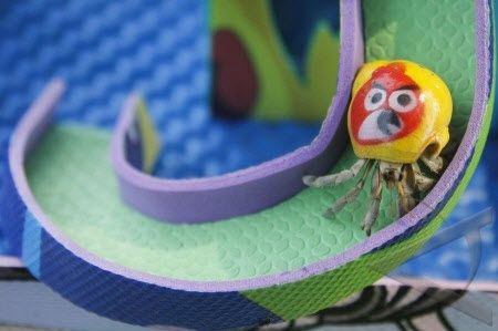 Hermit crabs love to climb! Sometimes a ramp can be useful too though... #DIY - PetDIYs.com