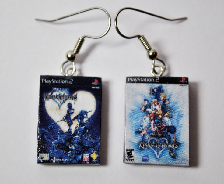 PS2 Playstation 2 Game Cases, CHOOSE any two games - EARRINGS - $12.00, via Etsy.