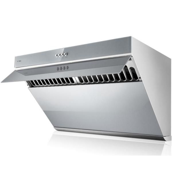 Fotile V Series 30 In 850 Cfm Side Draft Air Extraction Under Cabinet Or Wall Mount Range Hood In Silver Grey Jqg7502 G The Home Depot Wall Mount Range Hood Range Hood