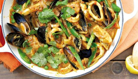 Mauritian-style seafood curry