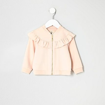 Mini girls pink ruffle jacket $40.00