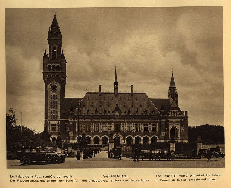 https://flic.kr/p/X26hmg | Holland; 1933_16, 's-Gravenhage / The Hague Palace of Peace, South Holland prov., The Netherlands | 's-Gravenhage  Het Vredespaleis, symbool van nieuwe tijden /  Le Palais de la Paix, symbole de l'avenir /  Der Friedenspalast, das Symbol der Zukunft /  The Palace of Peace, symbol of the future /  El Palacio de la Paz, simbolo del futuro