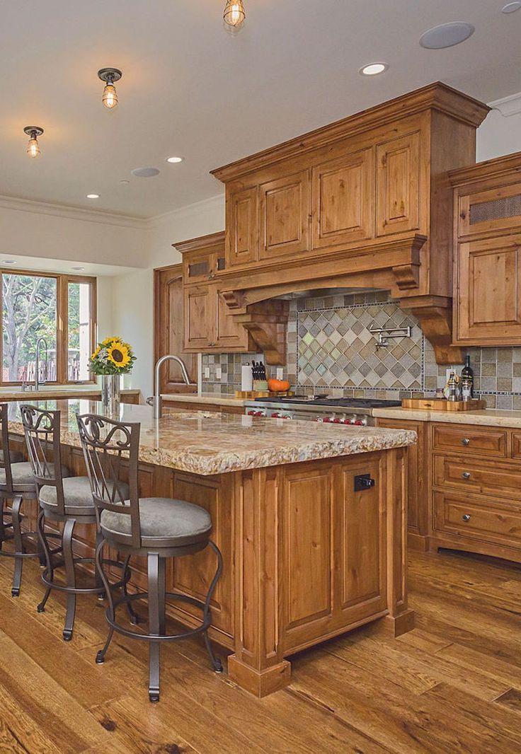 70 tile floor farmhouse kitchen decor ideas hickory flooring hickory kitchen cabinets on farmhouse kitchen hickory cabinets id=96711