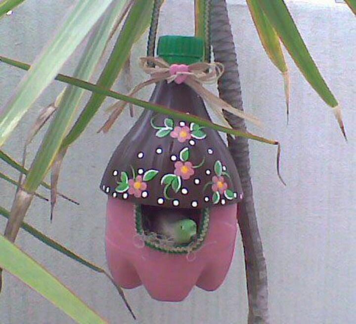 Diy Birdhouse Recycled Pop Bottles