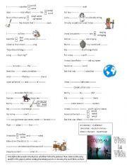 English worksheet: Used to / Would (Past habits) - Viva la Vida by Coldplay (Song)